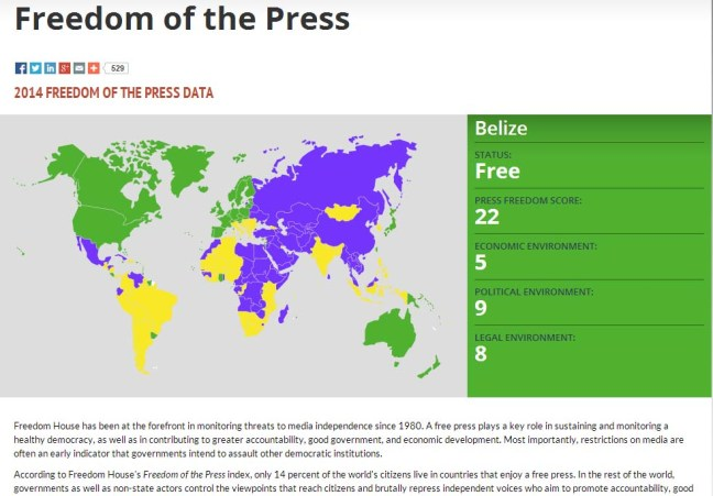 Belize press free but ratings still low